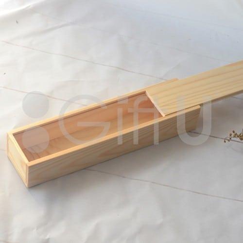 ชุดช้อนส้อมไม้กล่องไม้