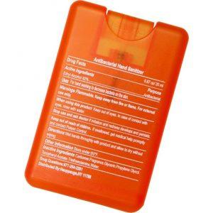 สเปรย์แอลกอฮอล์ทำความสะอาดมือ สไตล์บัตรเครดิต