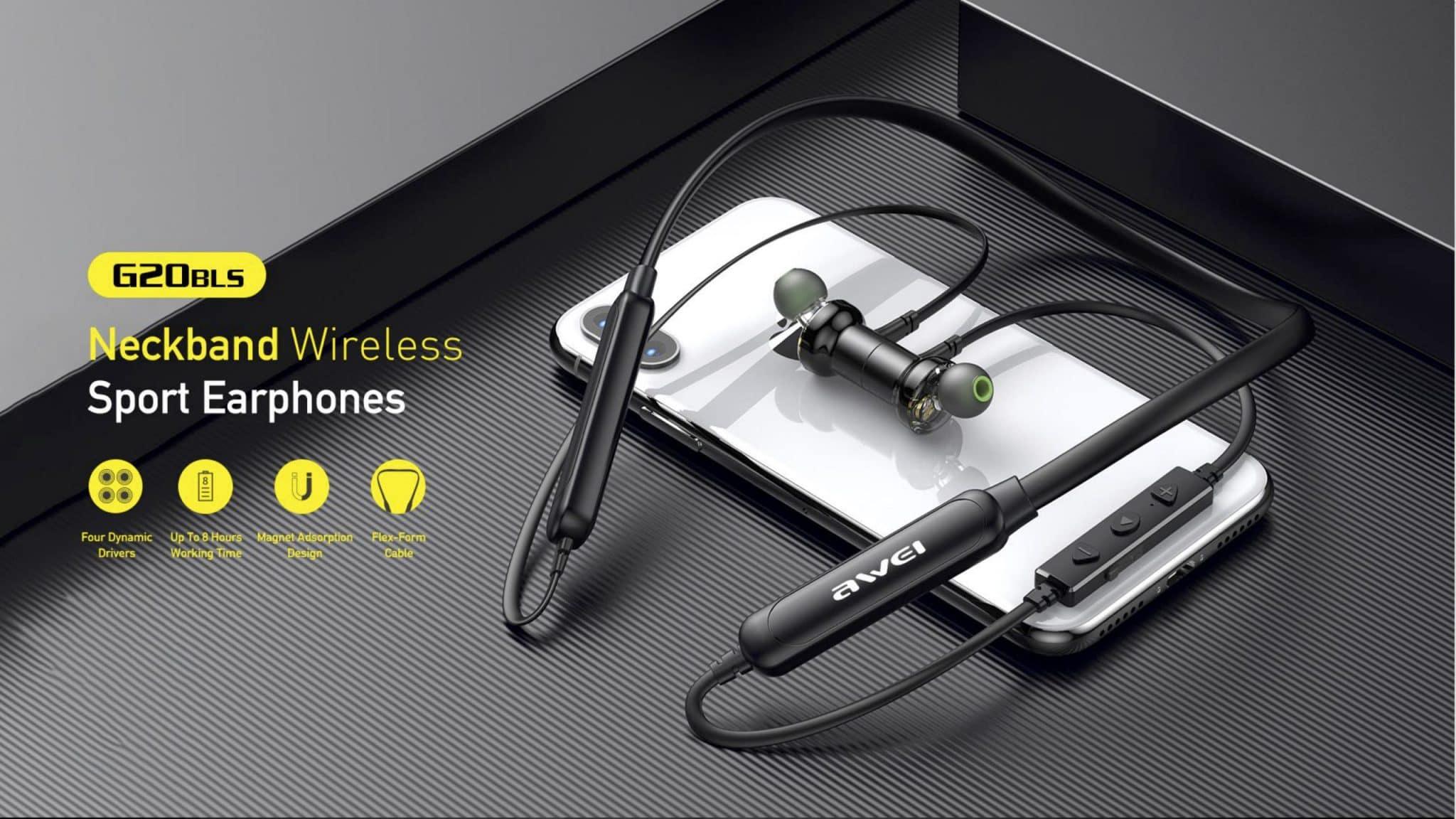 Awei Neckband Wireless Sport Earphones G20BLS