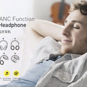 Awei Foldable ANC Function Wireless Headphone A950BL