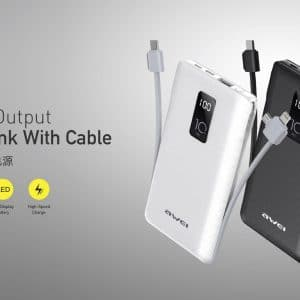 Awei Multiple Output Power Bank With Cable P8K