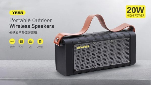 Awei Portable Outdoor Wireless Speakers Y668