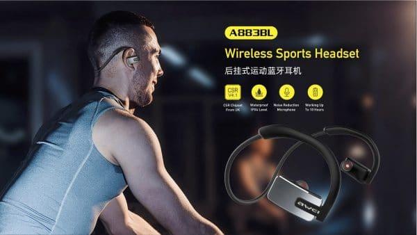 Awei Wireless Sports Headset A883BL