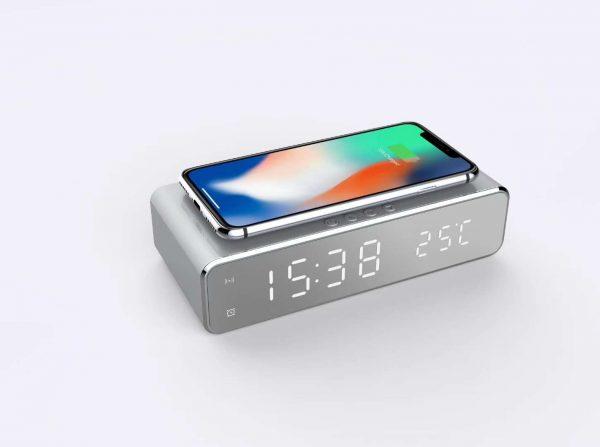 มัลติฟังก์ชั่น PowerBank - เพาเวอร์แบงค์ไร้สาย + นาฬิกาปลุก Model-W258
