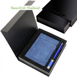 ชุดของขวัญ สมุดโน๊ต ปากกา และแฟลชไดร์ฟ OTG 16GB ในกล่องของขวัญพรีเมี่ยม1