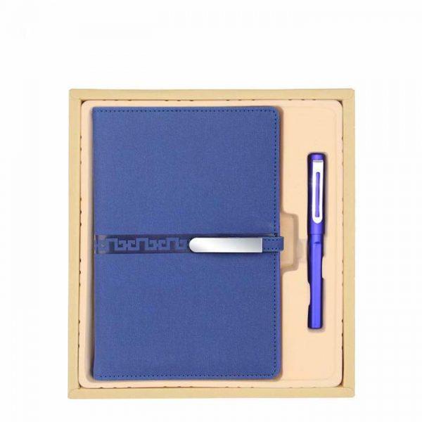 สมุดโน๊ตและปากกาในกล่องของขวัญพรีเมี่ยม ชุด 2 ชิ้น