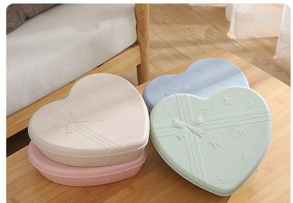 EcoFriendly-กล่องใส่อาหารรูปหัวใจมีฝาปิด